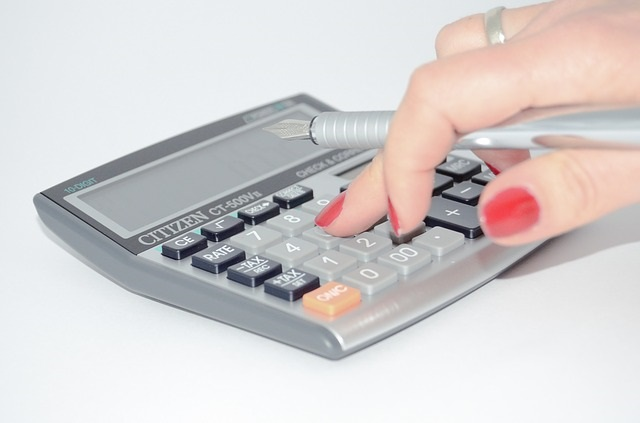 Typing on a calculator